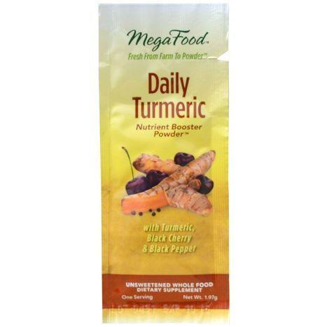 MegaFood, Daily Turmeric, Nutrient Booster Powder, 1.97 G (5 Pack)
