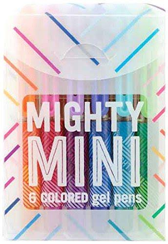 Mighty Mini Coloured Gel Pens - x6