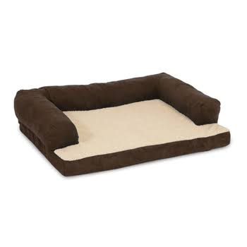 Aspen Pet Bolstered Ortho Pet Bed - Blue/Brown, 40x30""