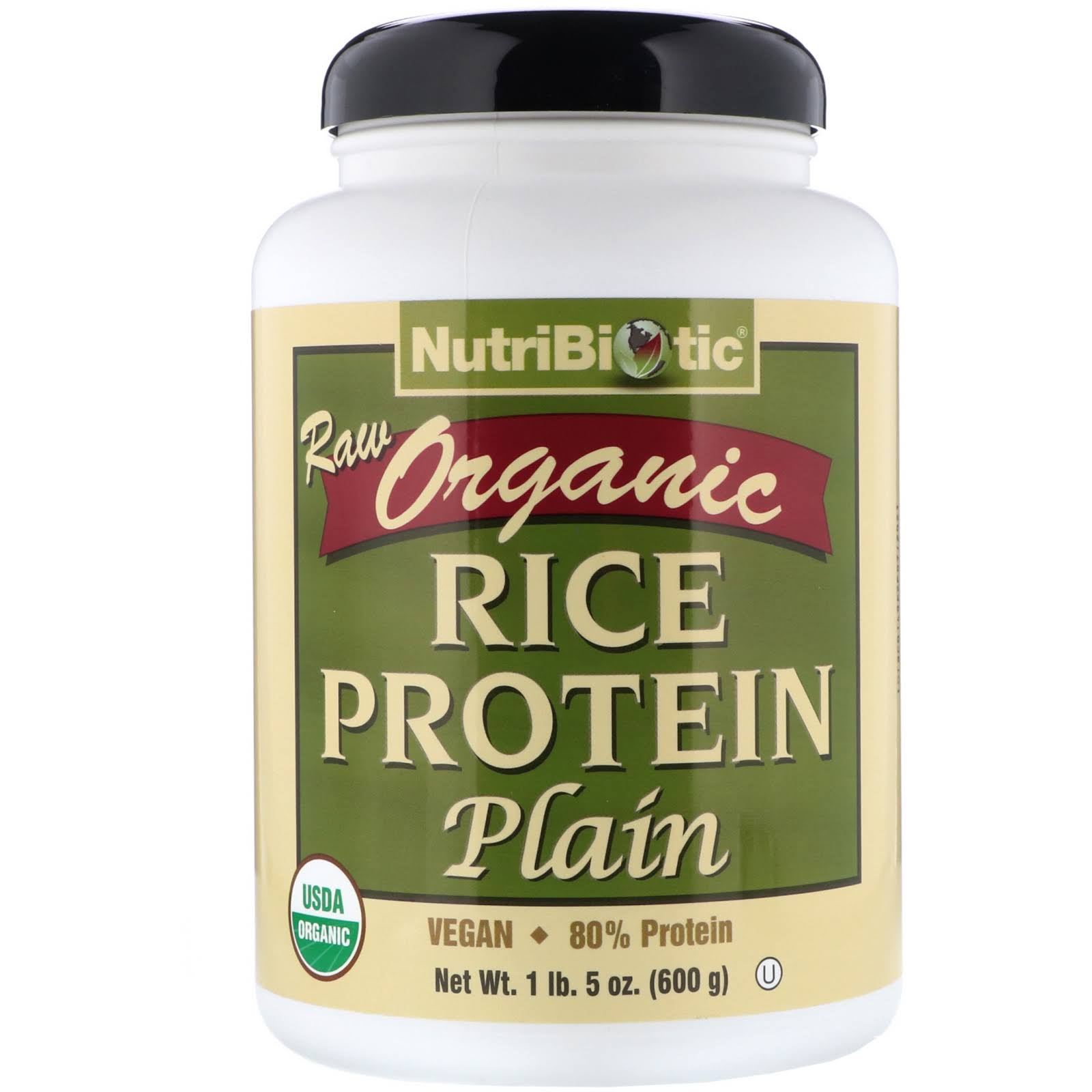 NutriBiotic Organic Rice Protein - Plain, 1 lb
