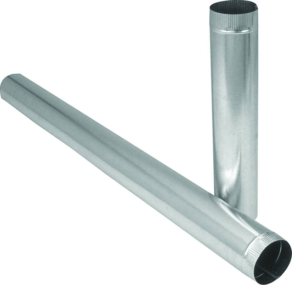 "Imperial Manufacturing Furnace Pipe - 4"" Dia x 60"", Galvanized, 30 Gauge"