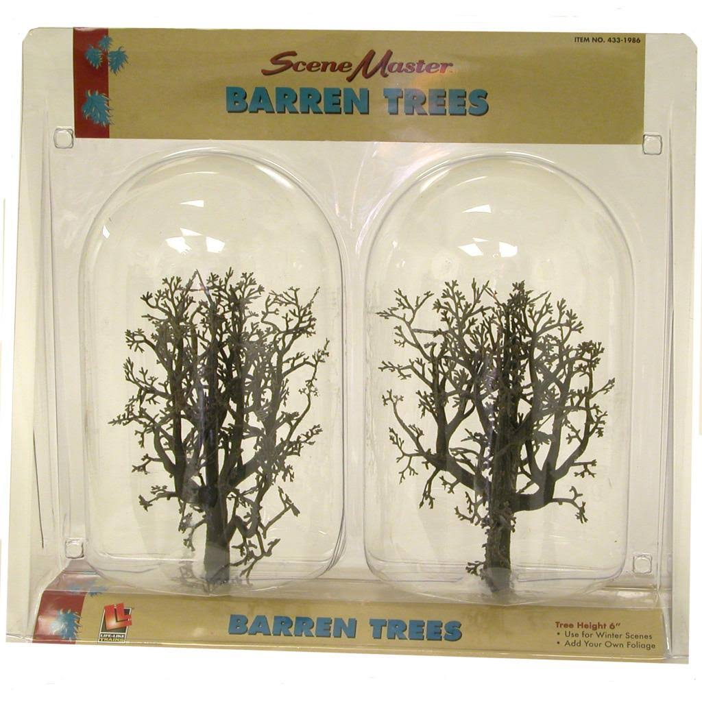 "Walthers 433-1986 SceneMaster Trees - 6"" Barren"