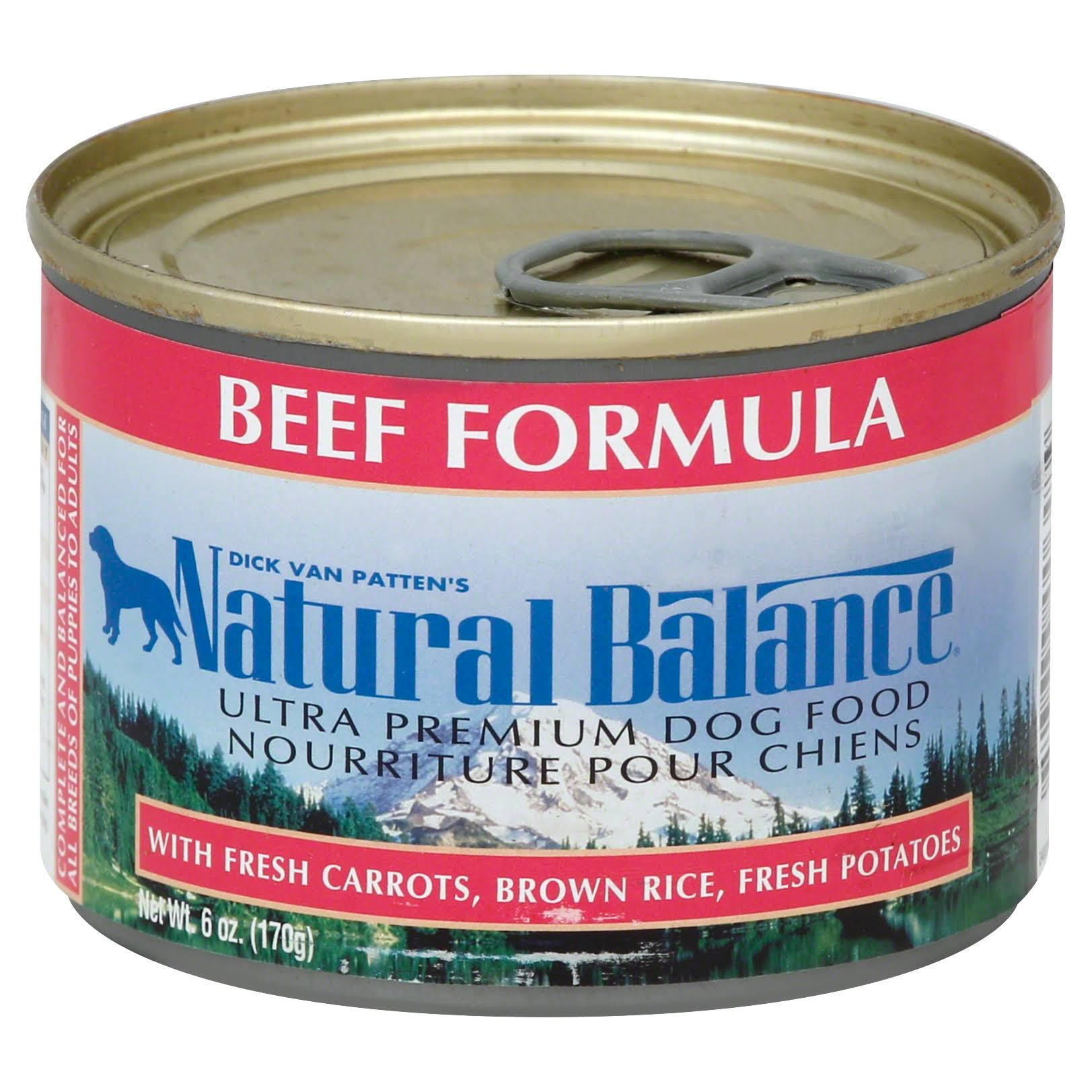 Natural Balance Ultra Premium Beef Formula Canned Dog Food - 6oz, Case of 12