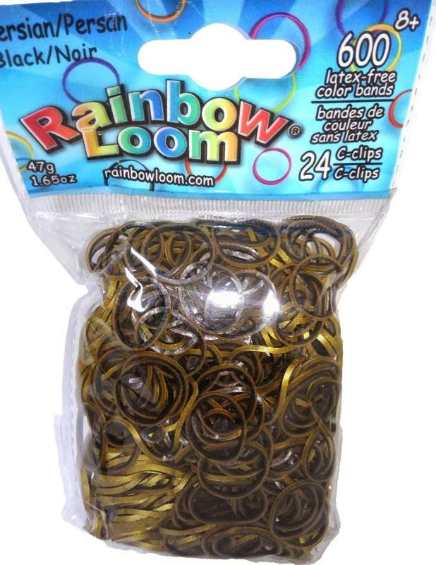 Rainbow Loom Rubber Band - Persian Black, 600ct