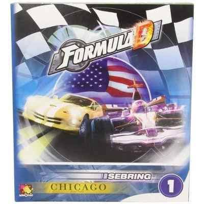 Asmodee Editions FDC1 Formula D Expansion Board Game - Sebring and Chicago