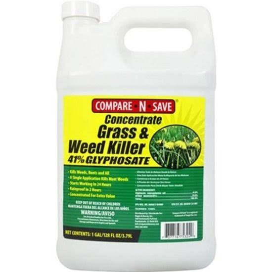 Compare-N-Save Grass & Weed Killer 41% Glyphosate Concentrate - 1gal