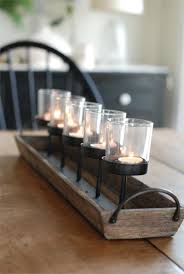 Dining Table Centerpiece Ideas For Everyday by Rustic Wood Centerpiece Votive Holder Kitchen Table Or Coffee