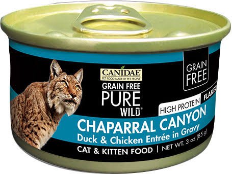 Canidae Grain Free Pure Wild Cat Food - Duck and Chicken Entree, 3oz