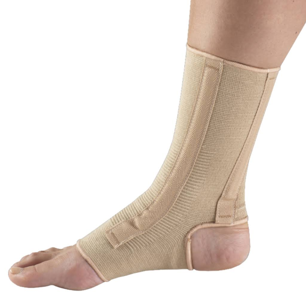OTC Professional Orthopaedic Ankle Support with Spiral Stays - Medium, Beige