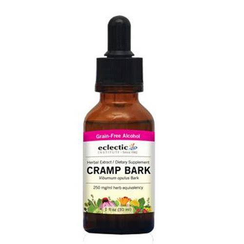 Eclectic Institute Cramp Bark Dietary Supplement - 2oz