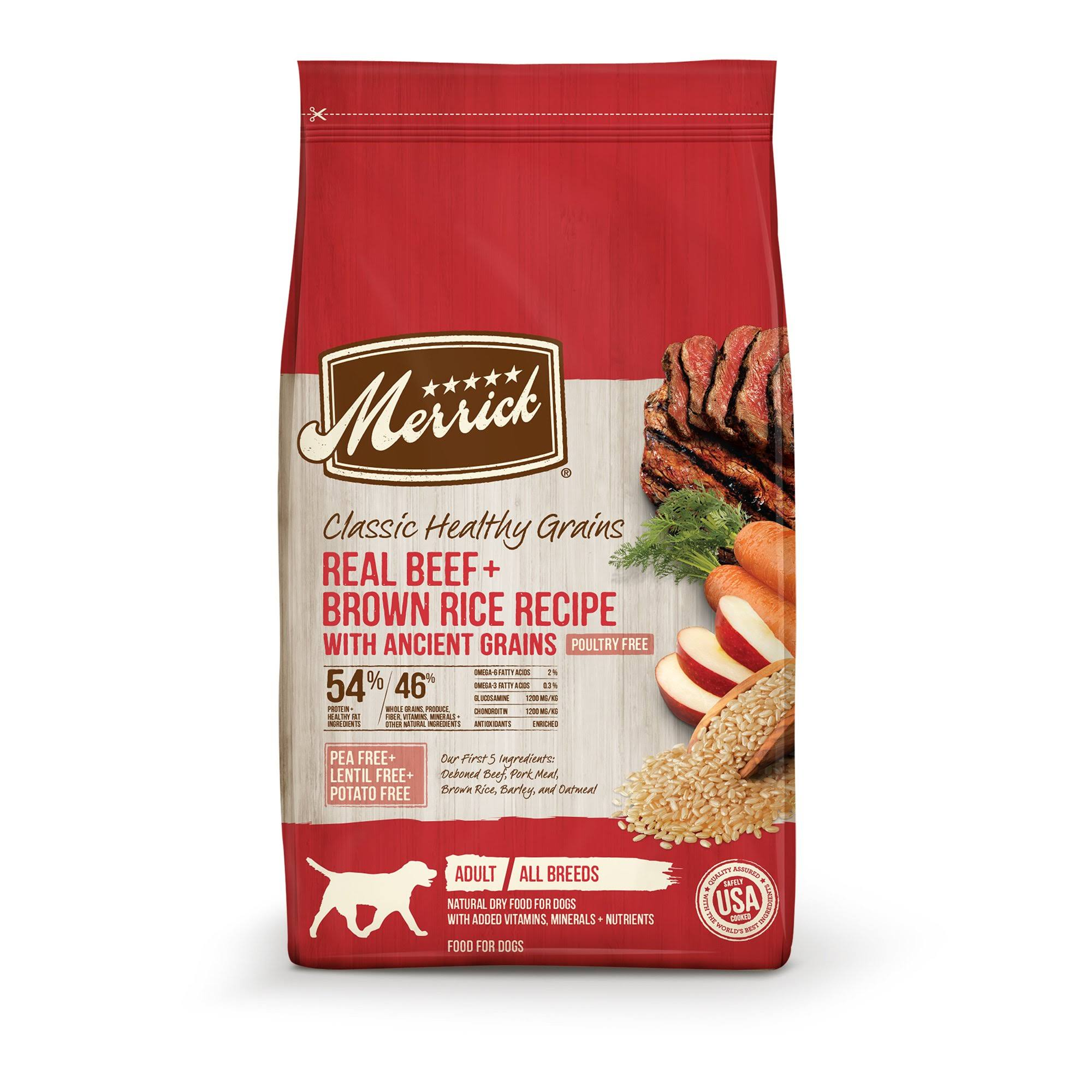 Merrick Classic Dog Food - Real Beef & Green Peas Recipe