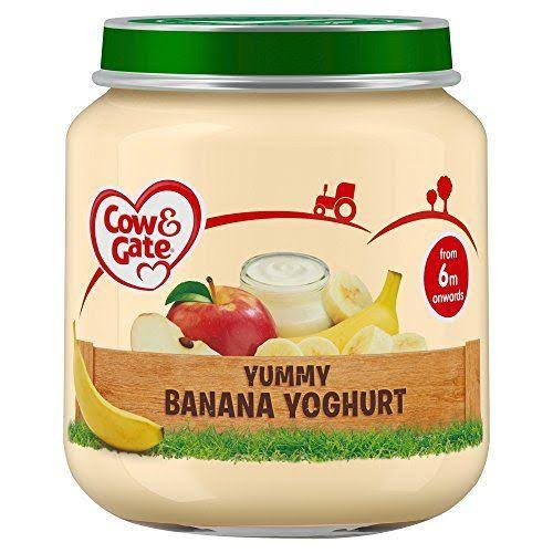 Cow & Gate Yummy Banana Yoghurt - from 6 Months Onwards, 125g
