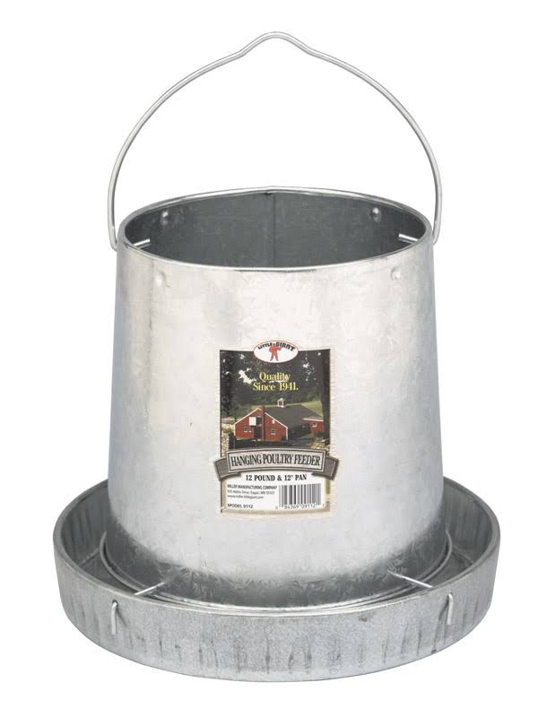 Miller Manufacturing Poultry Feeder - Galvanized