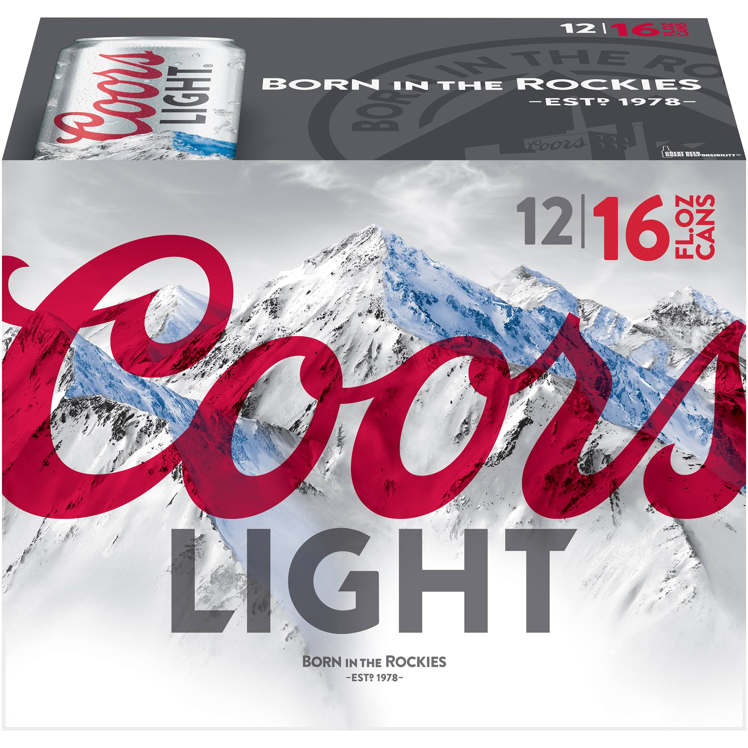 Coors Light Beer - 12 Cans