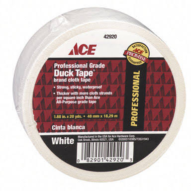 "Ace Professional Grade Duck Tape - 1.88"" x 20 yd, White"