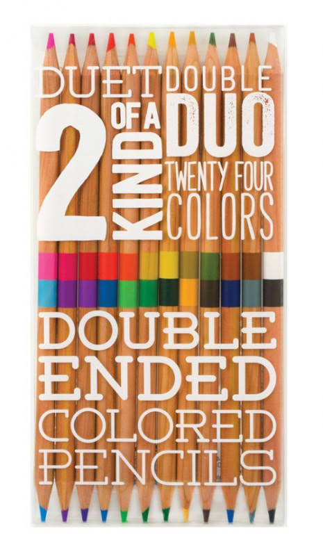 Two of a Kind Double Ended Colored Pencils - 12pk