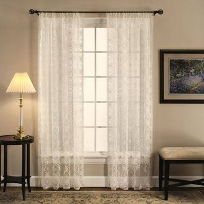 "Today's Curtain Richmond Macram 84"" Window Curtain Panel in Ecru"