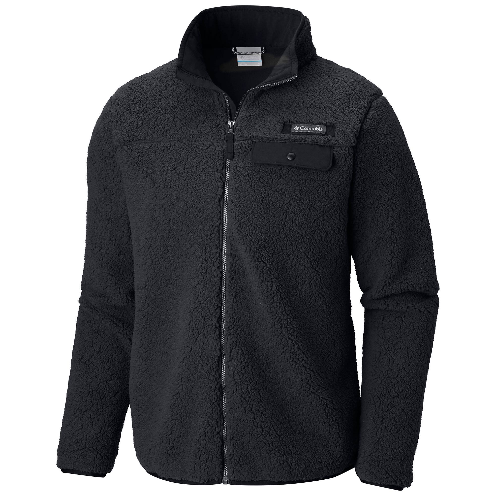 Columbia Men's Mountain Side Heavyweight Full-Zip Fleece - Black, L