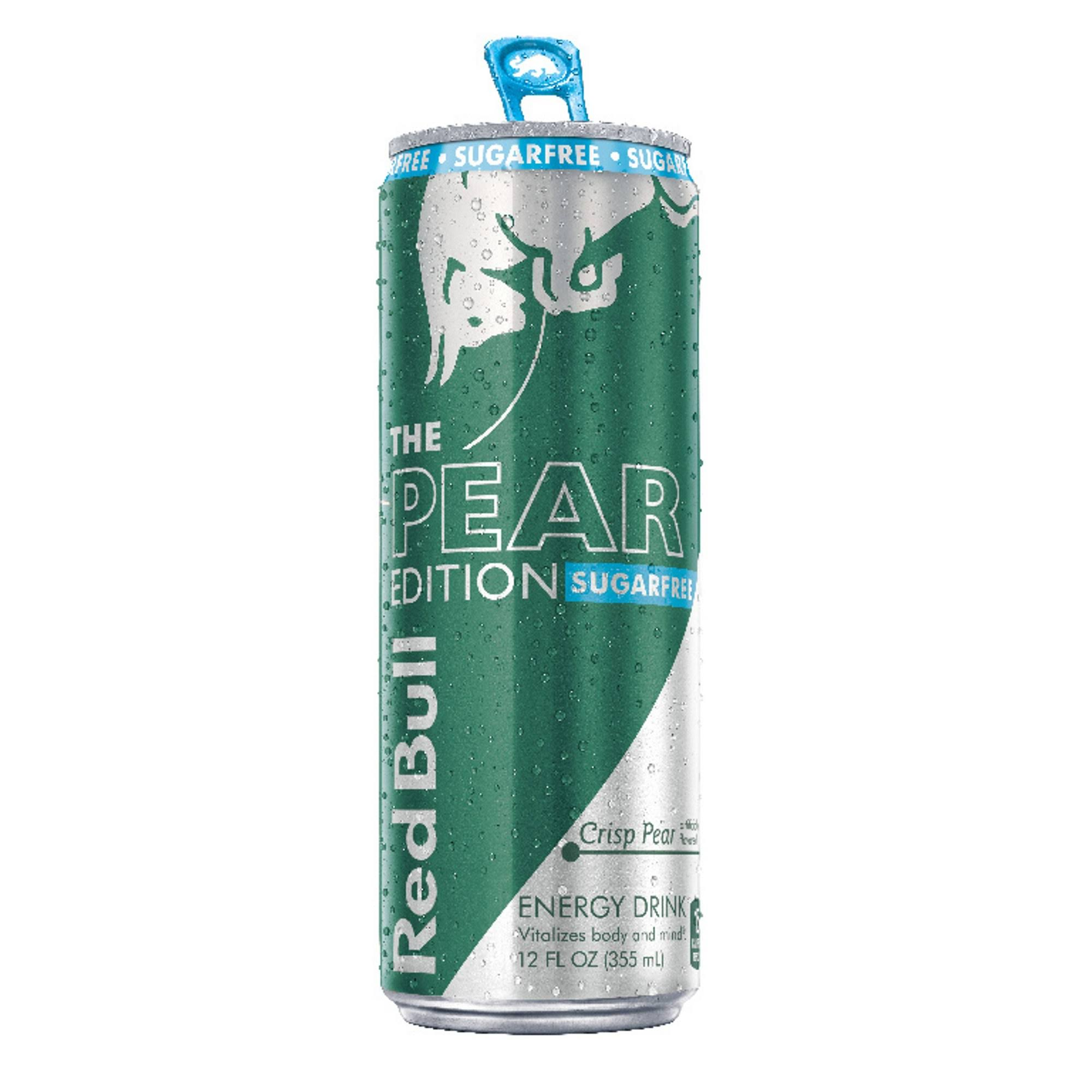 Red Bull The Pear Edition Sugarfree Energy Drink - Crisp Pear, 12oz