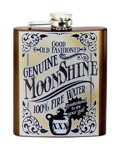 "Spoontiques Hip Flask - ""Moonshine"""
