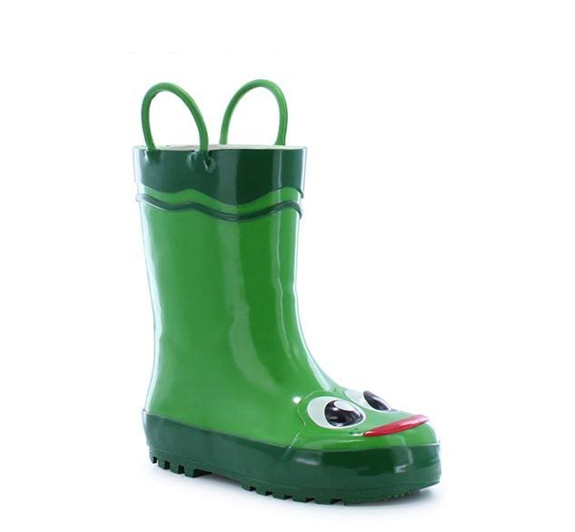 Western Chief Toddler Boys Frog Rain Boots - Green 6