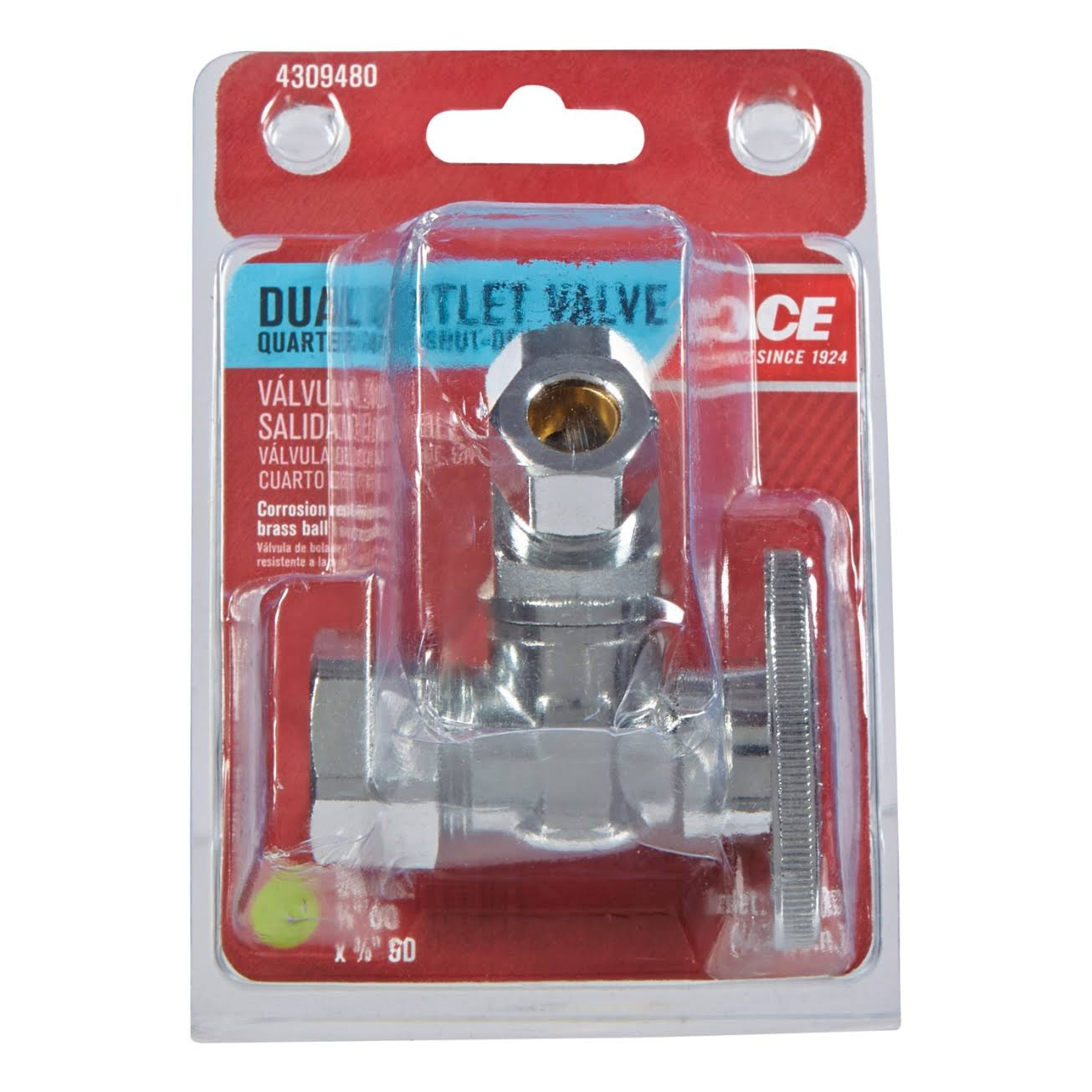Plumb Pak Ace Quarter Turn V Configuration 3-Way Valve