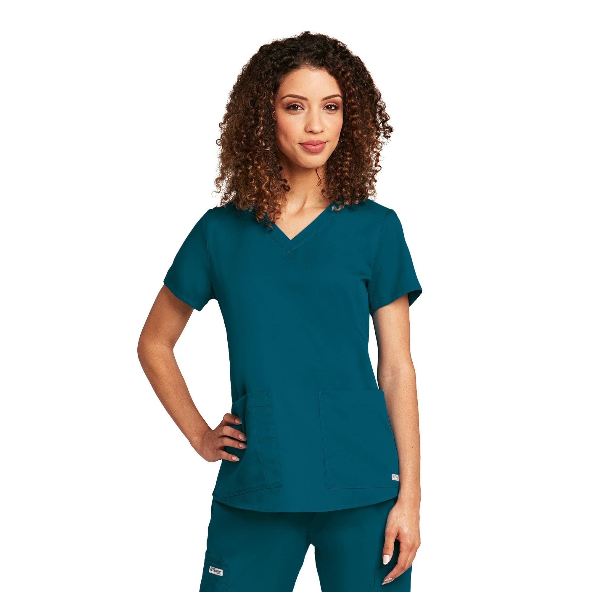Grey's Anatomy Women's Scrubs V-Neck Scrub Top