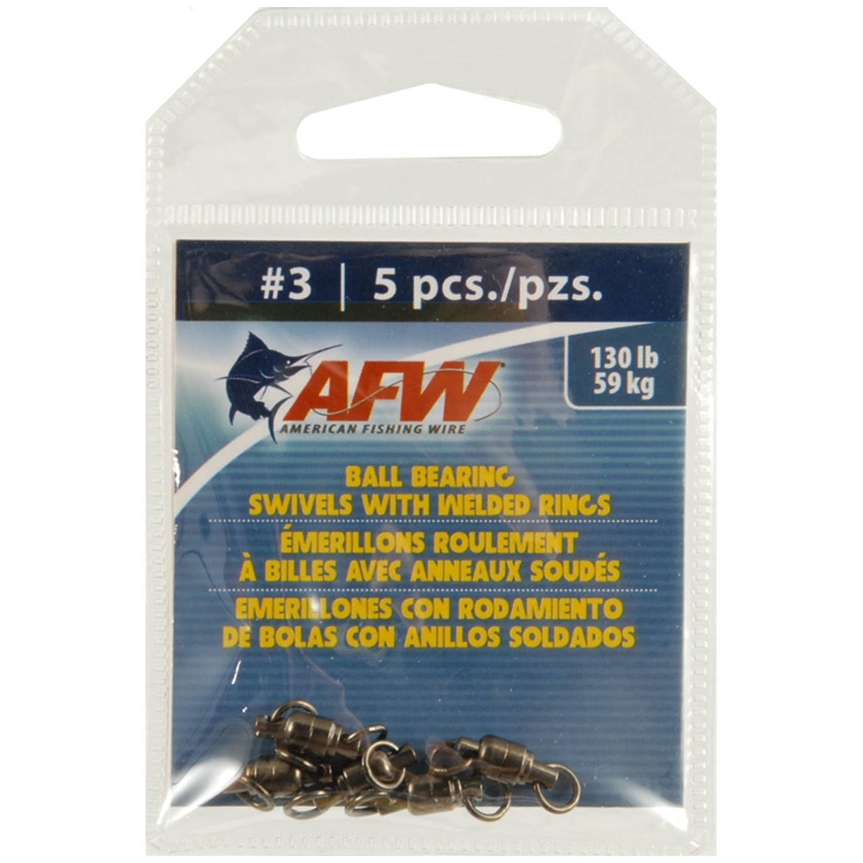 American Fishing Wire AFW Ball Bearing Swivels