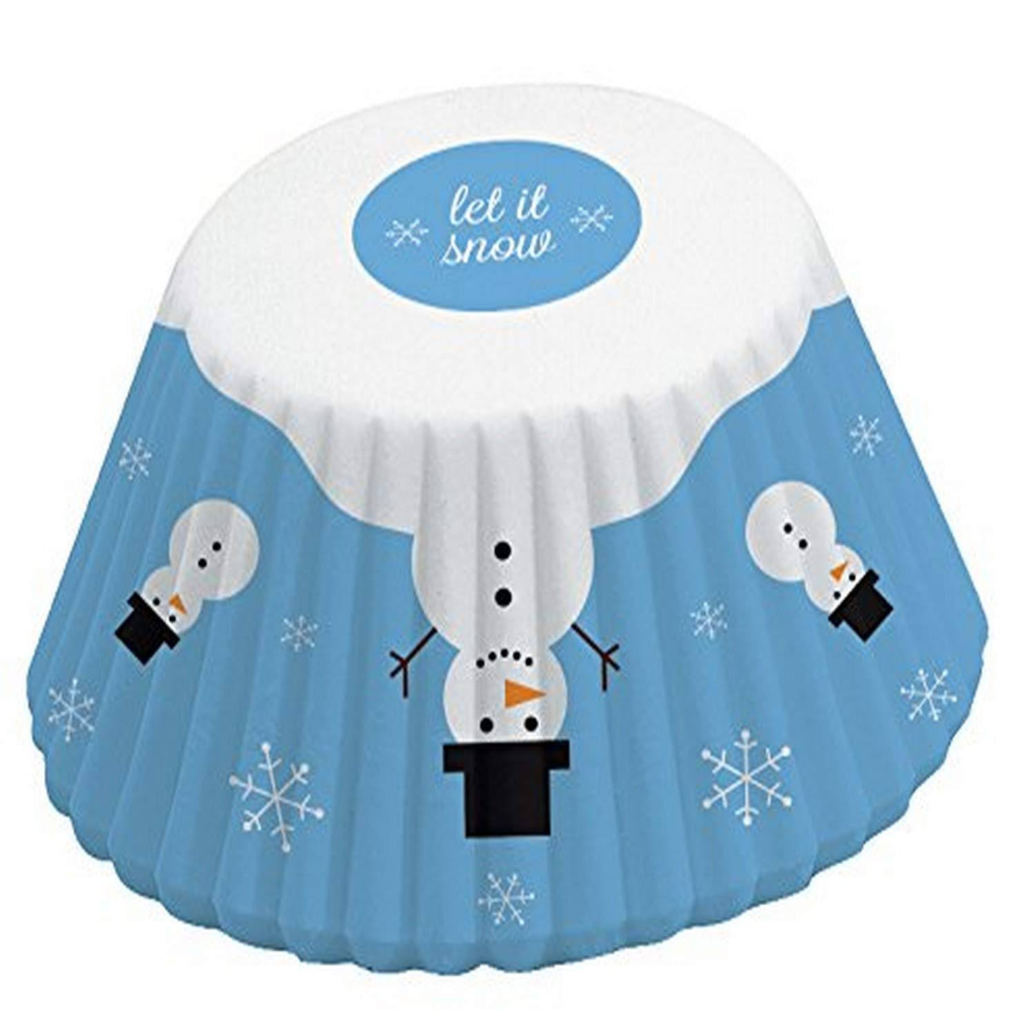 Fox Run 4355 Snowman Bake Cups, Standard, 50 Cups