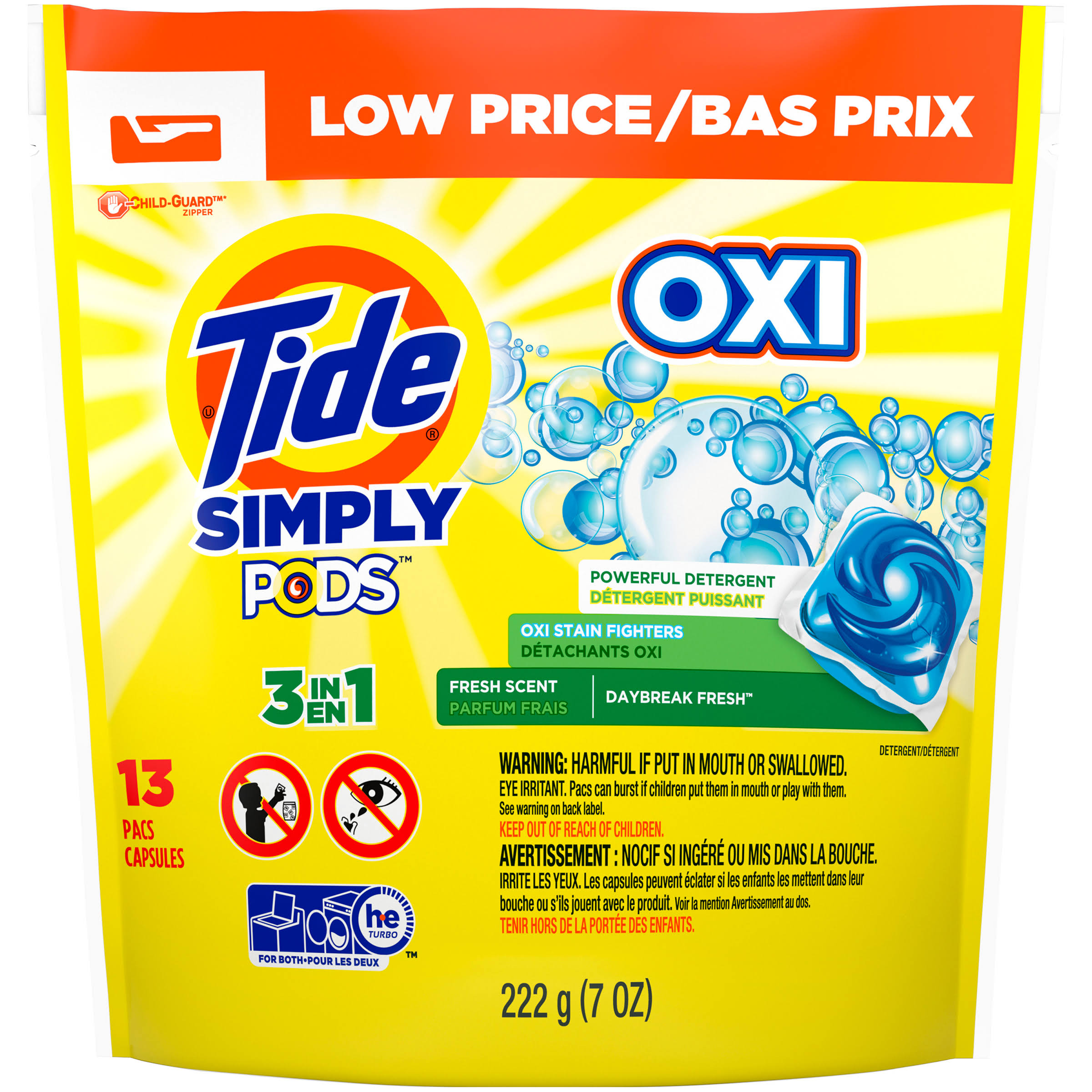 Tide Simply Clean and Fresh Laundry Detergent Pods - 8oz