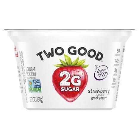 Two Good Greek Yogurt, Lowfat, Strawberry Flavored - 5.3 oz