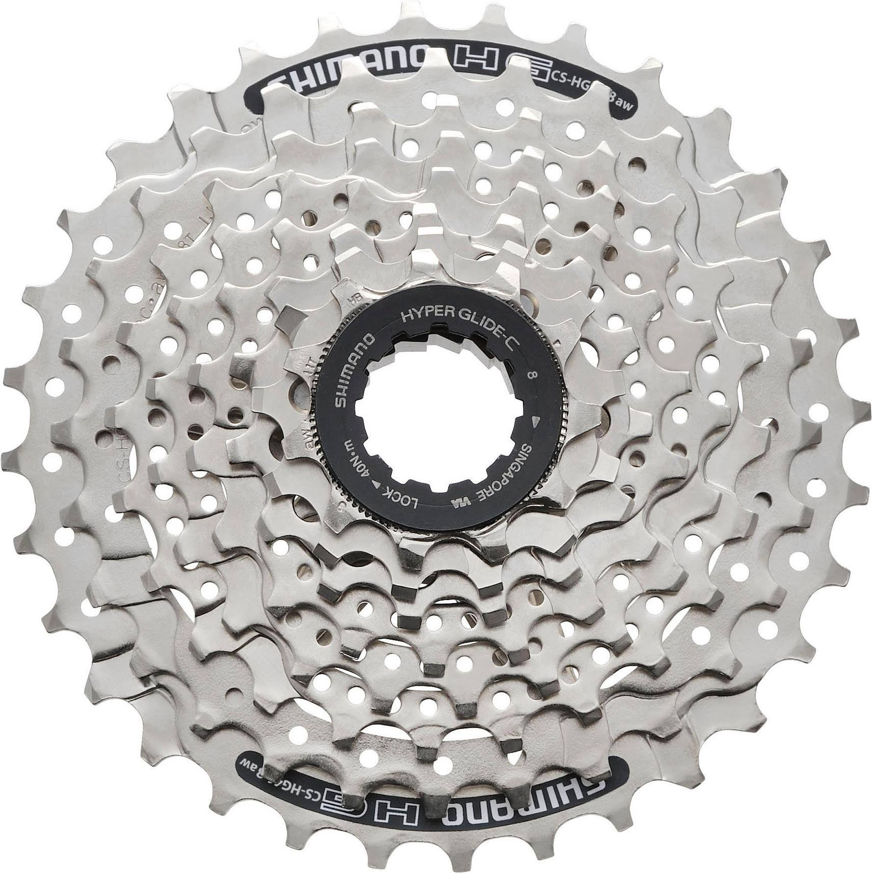 Shimano CS-HG41 8 Speed Cassette - Silver