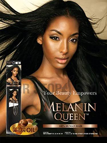 Melanin Queen Human Hair Weave Yaky Straight 10-18 inch - 2
