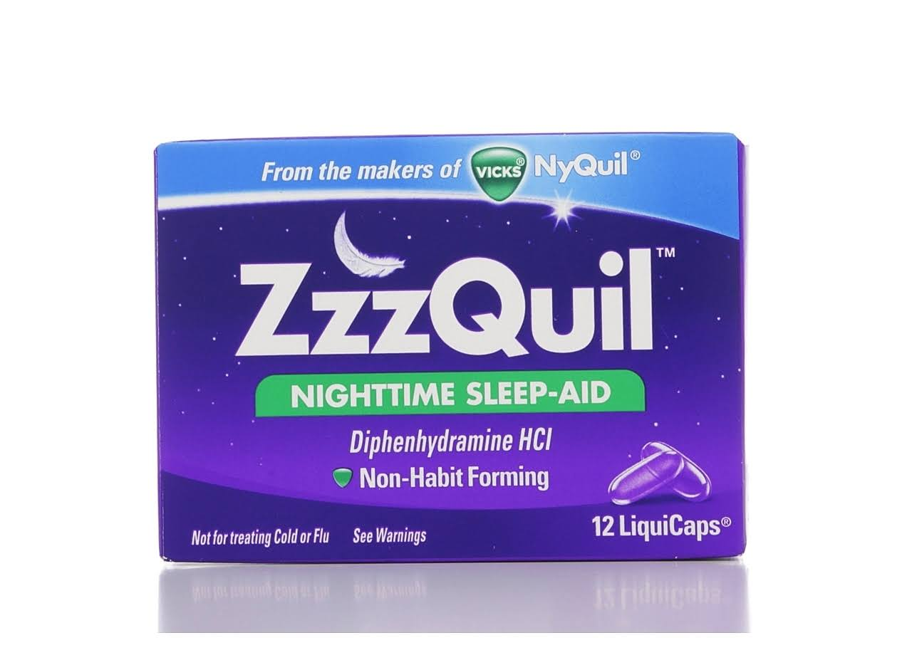 ZzzQuil Nighttime Sleep-Aid LiquiCaps - 12ct