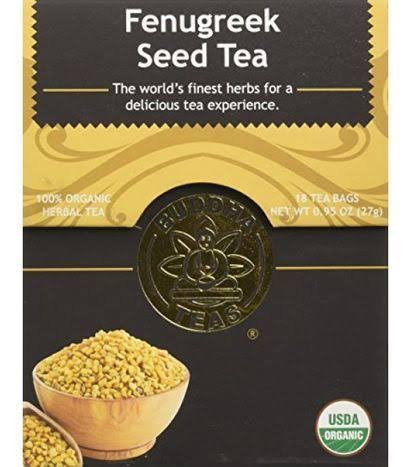 Buddha Teas Organic Fenugreek Seed Tea - 18ct