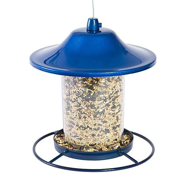 Perky-Pet Sparkle Panorama Bird Feeder - Blue