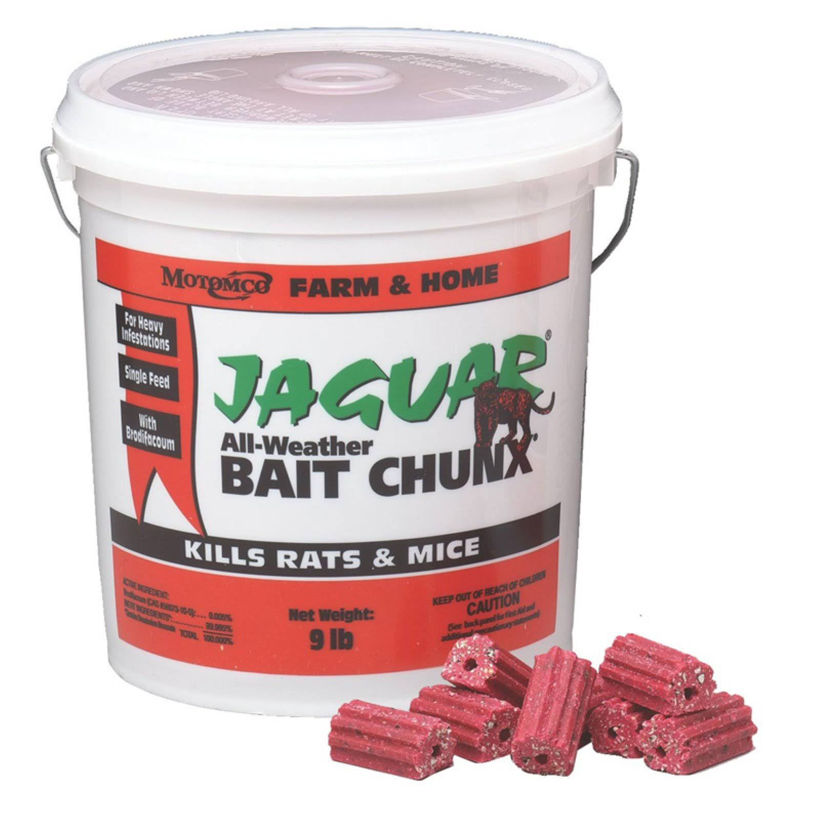 Motomco Jaguar Mouse and Rat Bait Chunx - 9lb