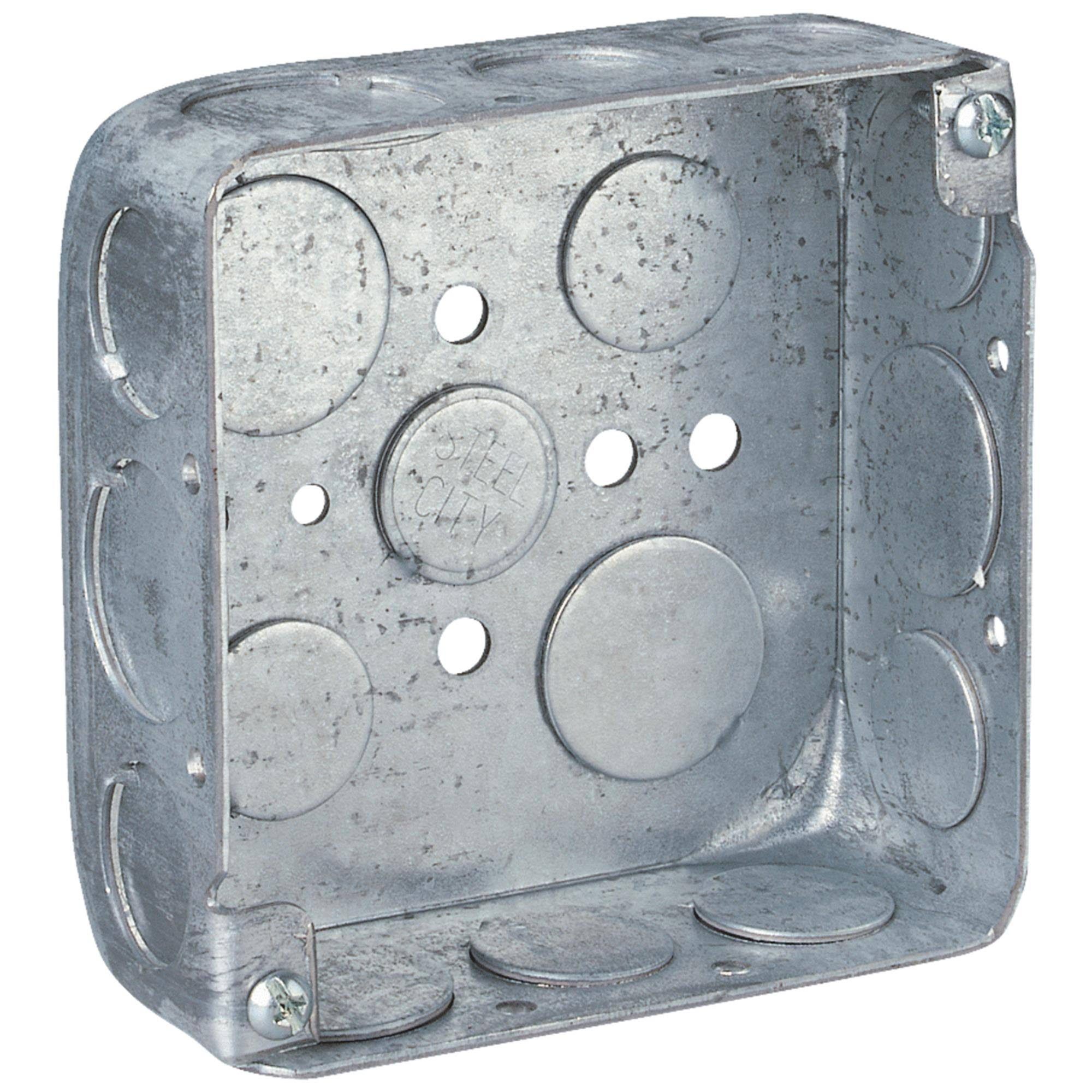 Steel City 2-Gang Square Wall Box - 21 cu. in