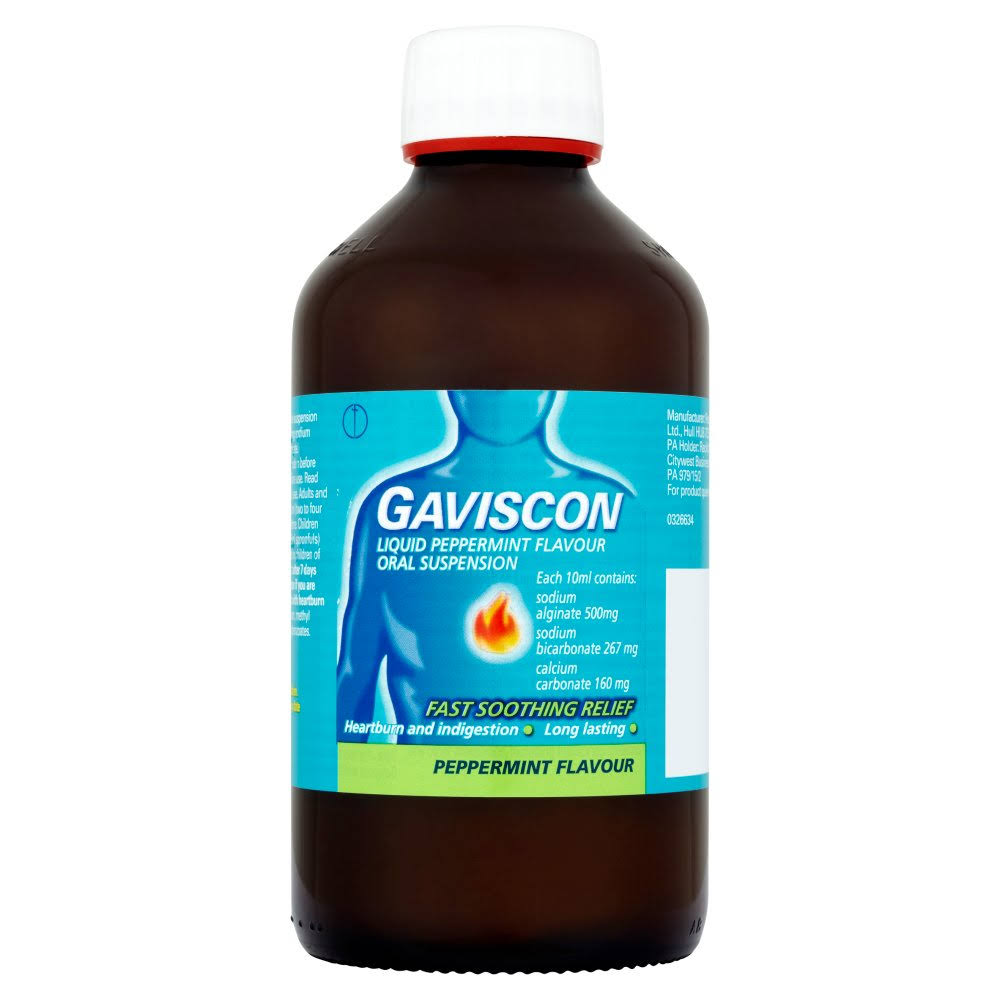 Gaviscon Liquid Oral Suspension - Peppermint, 600ml