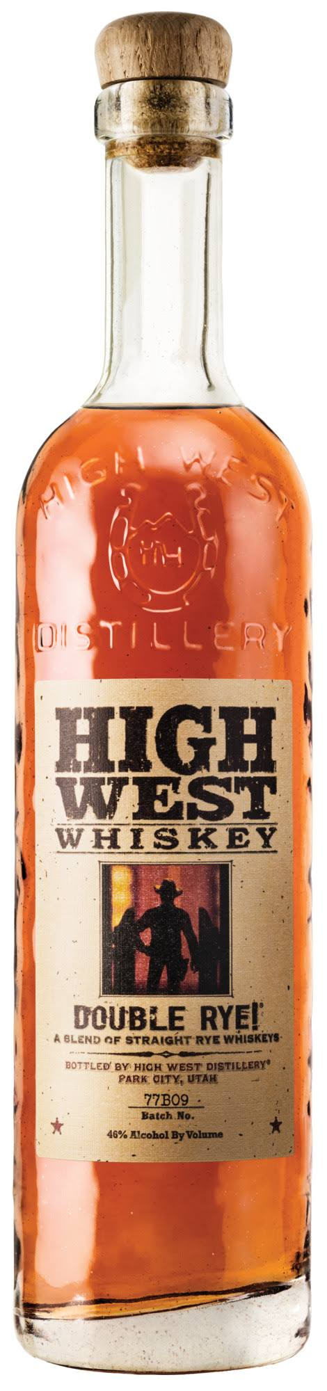 High West Whiskey, Double Rye - 750 ml