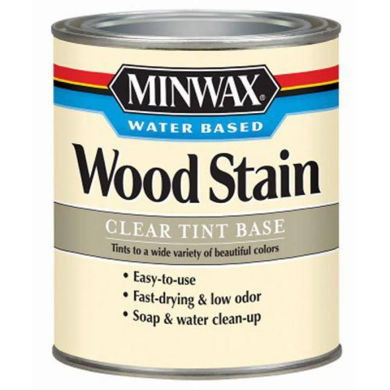 Minwax 61807 Water Based Wood Stains - 0.9L, Clear Base