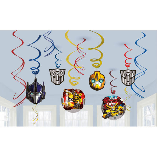 Amscan Transformers Hanging Party Decorations - 12pcs