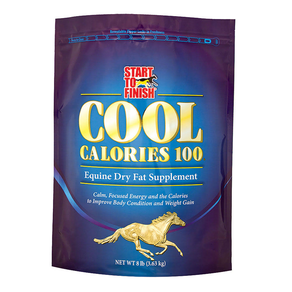 Manna Pro Start to Finish Cool Calories 100 Equine Supplement - 8lbs
