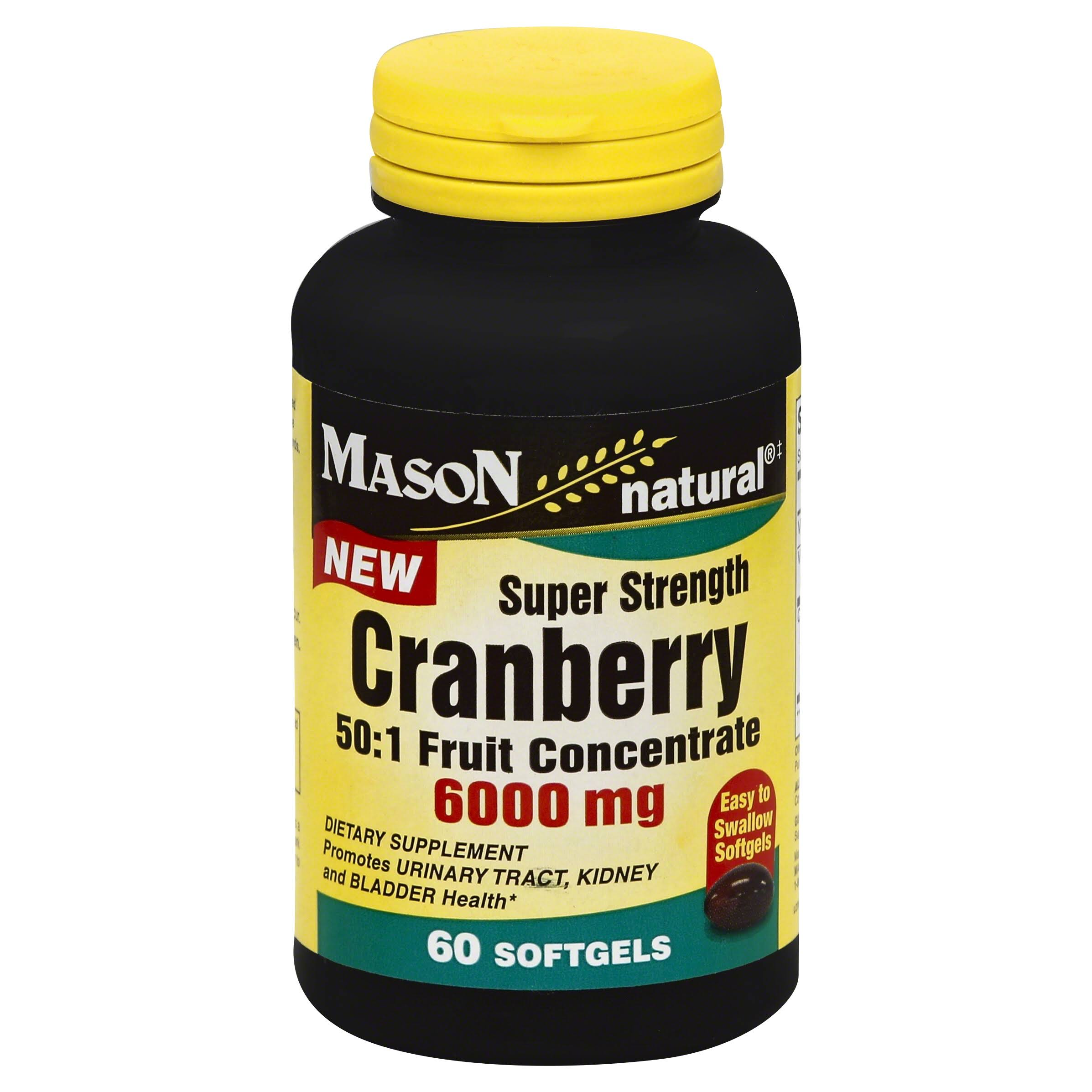 Mason Natural Cranberry Super Strength Supplement - 60 Softgels