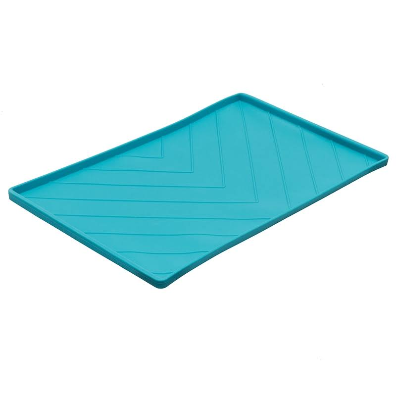 Messy Mutts Silicone Food Mat Blue