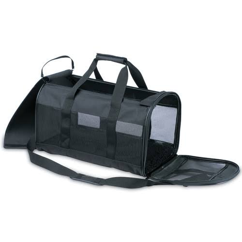 "Petmate Soft-Sided Kennel Cab Pet Carrier - Black, 17"" X 10"" X 10"""