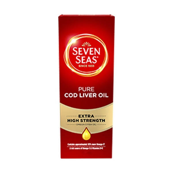 Seven Seas Omega-3 Fish Oil+ Cod Liver Oil - Maximum Strength, 150ml