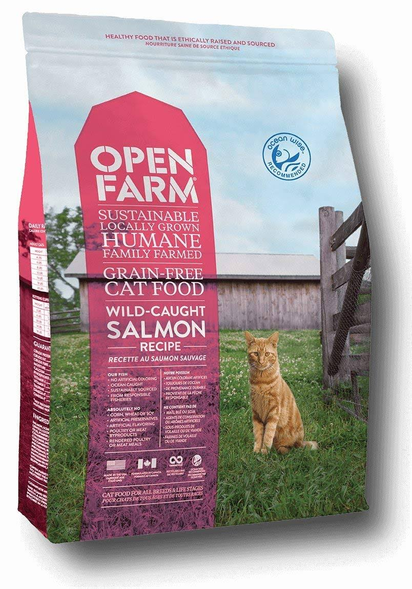 Open Farm Wild Caught Salmon Grain-Free Dry Cat Food-8 lb