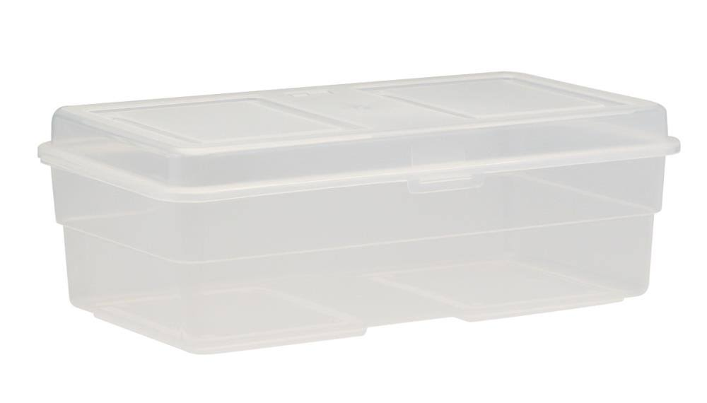 United Solutions Clear Plastic Storage Container - With Lid, 35 Quart