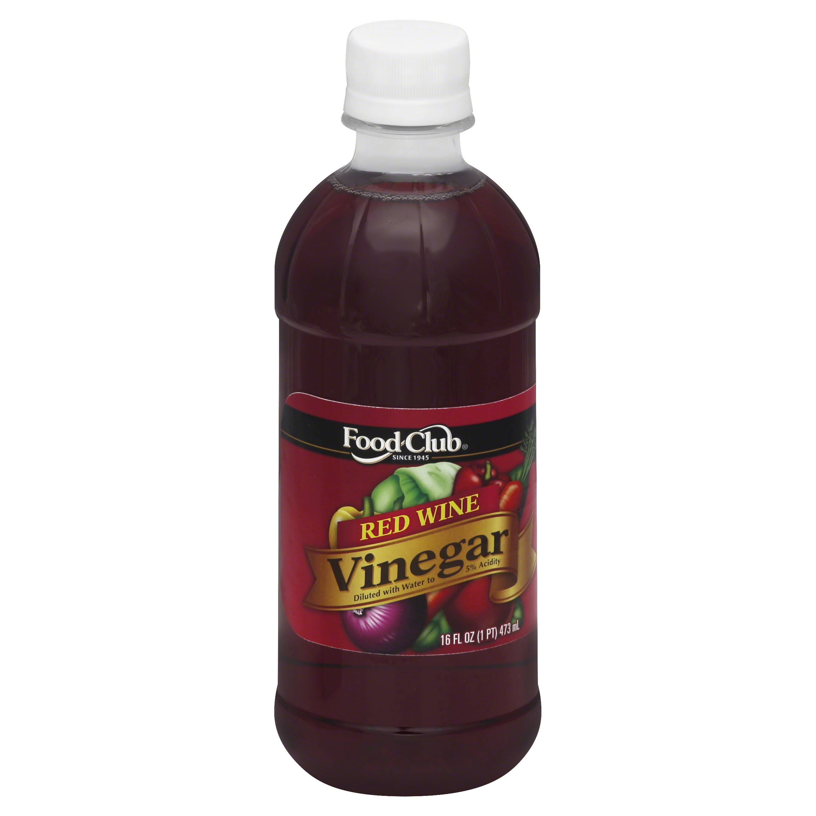 Food Club Vinegar, Red Wine - 16 fl oz